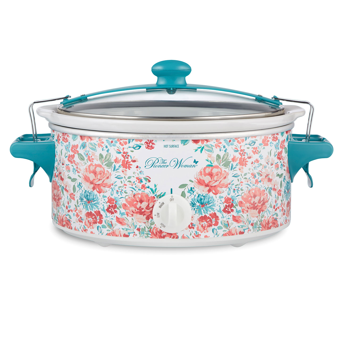 The Pioneer Woman Gorgeous Garden 6 Quart Portable Slow Cooker (33068N)