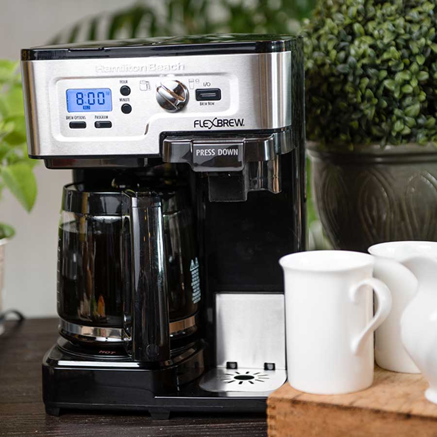 flexbrew coffee maker on a table