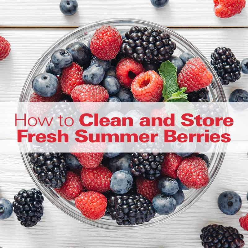 How to Clean & Store Fresh Summer Berries