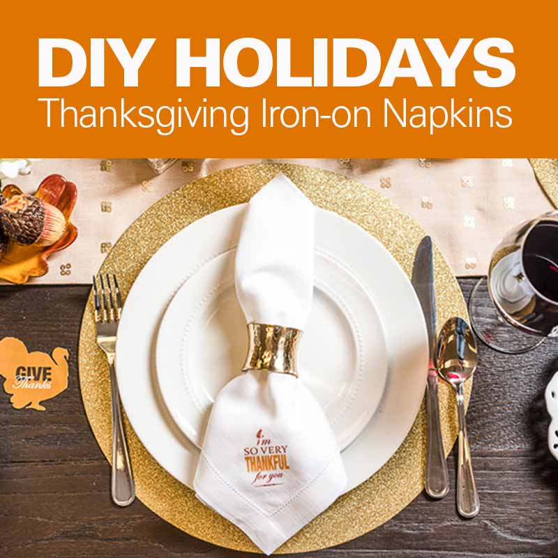 Mobile - DIY Holidays: Thanksgiving Iron-On Napkins