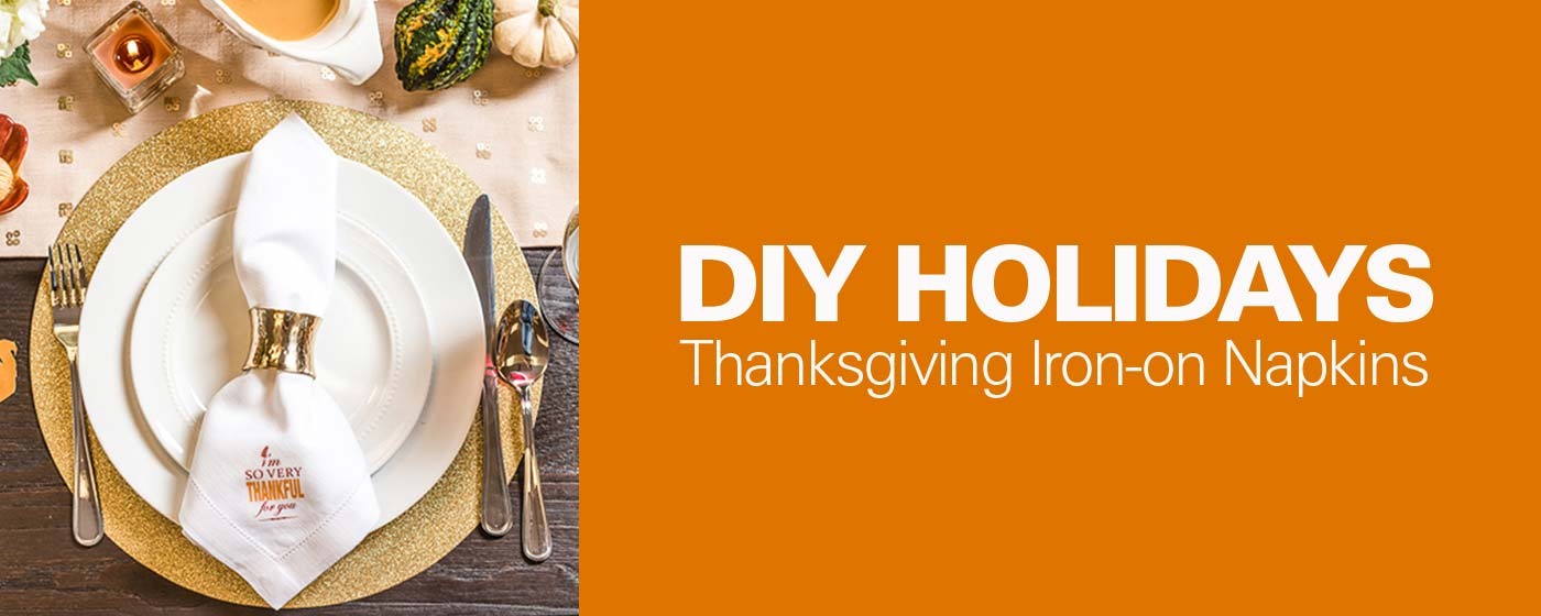 DIY Holidays: Thanksgiving Iron-On Napkins