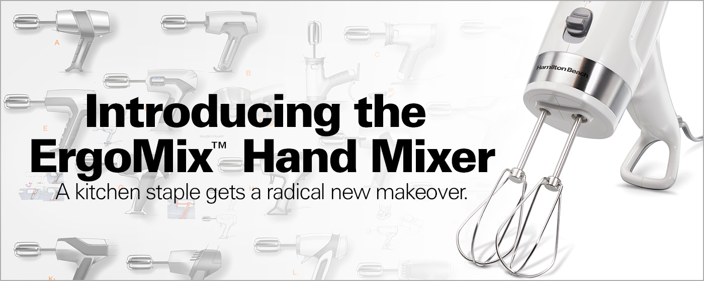 ErgoMix® Hand Mixer: Modernizing a Kitchen Staple