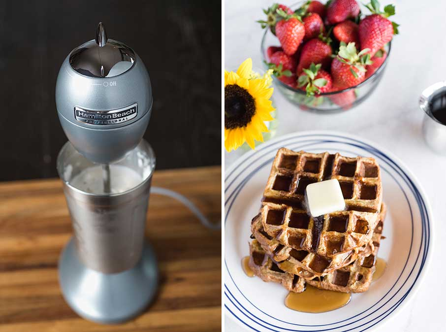 drink mixer with waffles