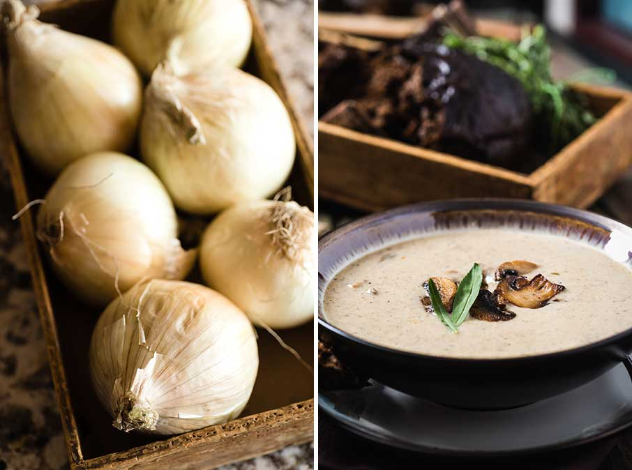 onions and cream of mushroom soup