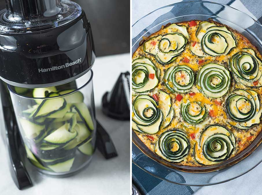 spiralizer filled with zoodles