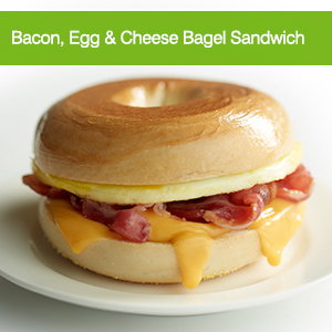 Bacon, Egg & Cheese Bagel Sandwich