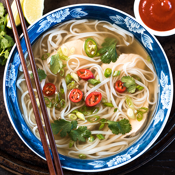 chicken pho made in a slow cooker