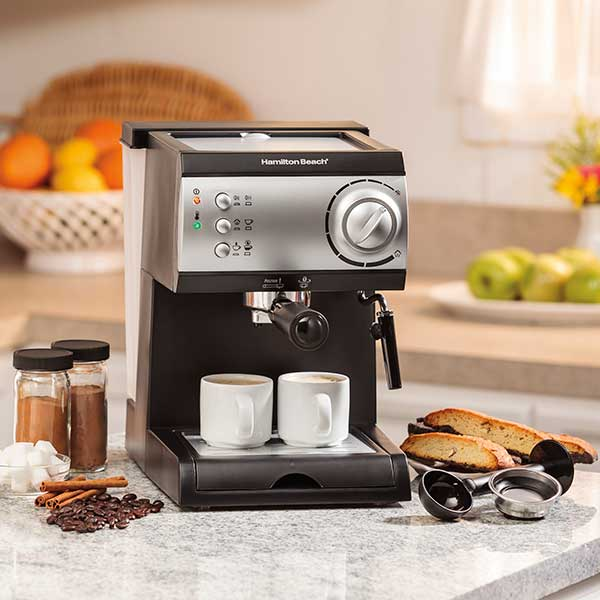 espresso maker on a counter top