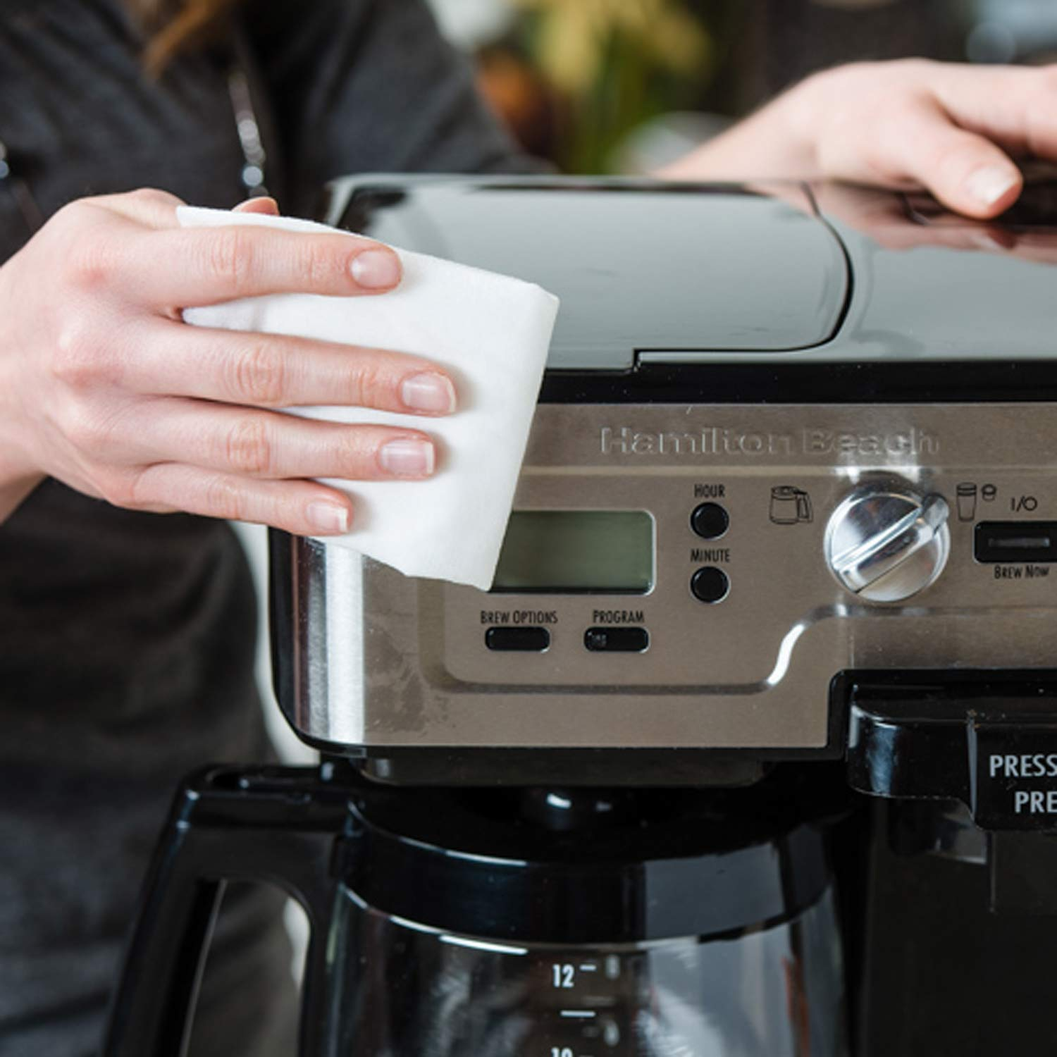 how to clean your coffee maker's stainless steel exterior