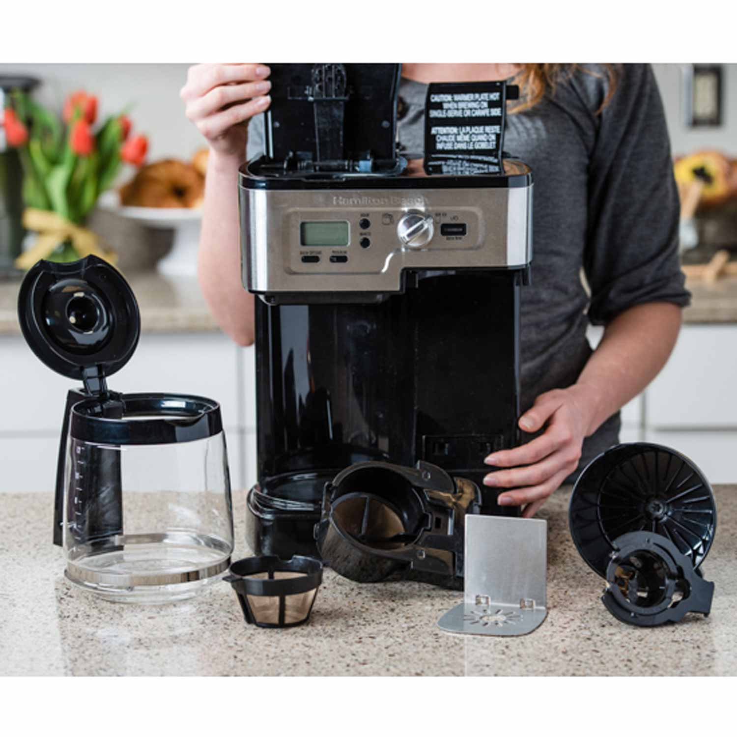 how to clean your coffee maker components