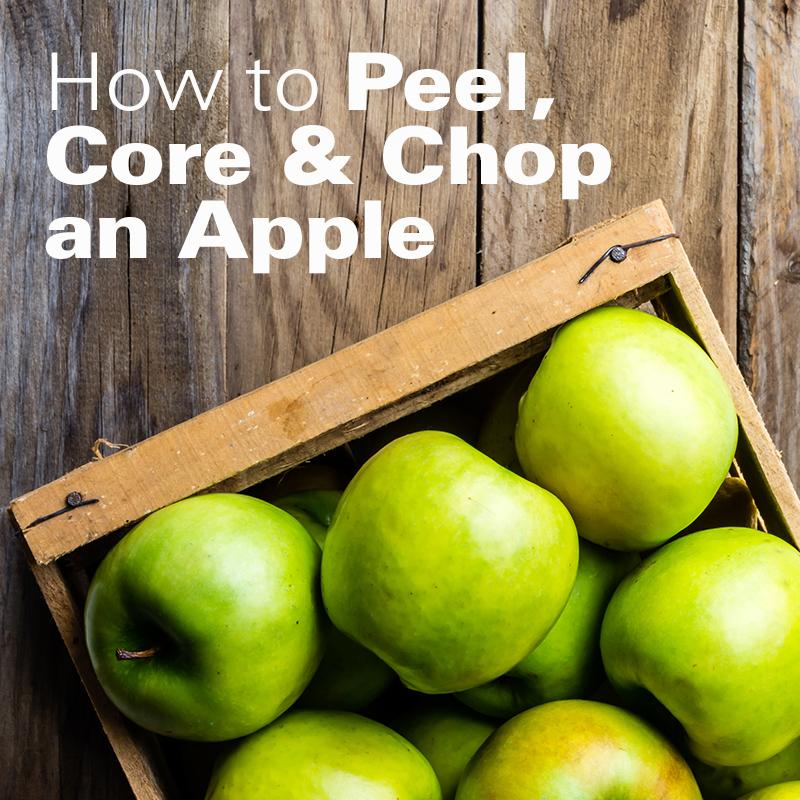 How To Peel Core And Chop Apples Hamiltonbeach Com