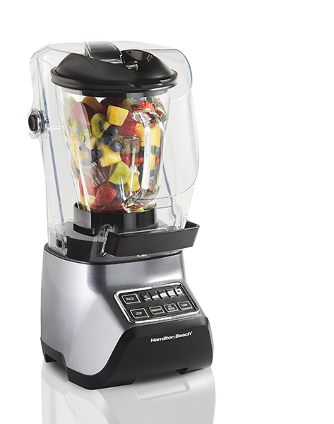sound shield blender with fruit inside