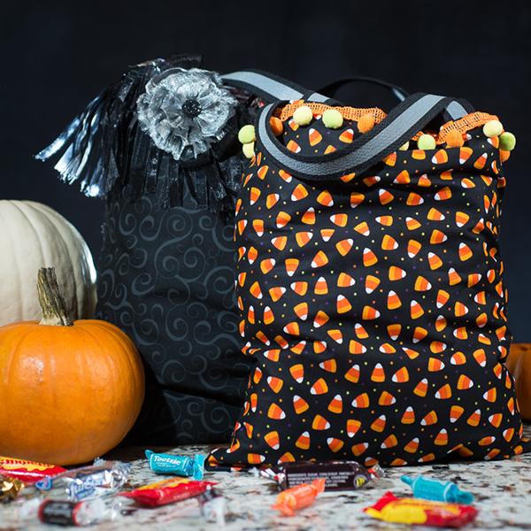 handmade trick or treating bags