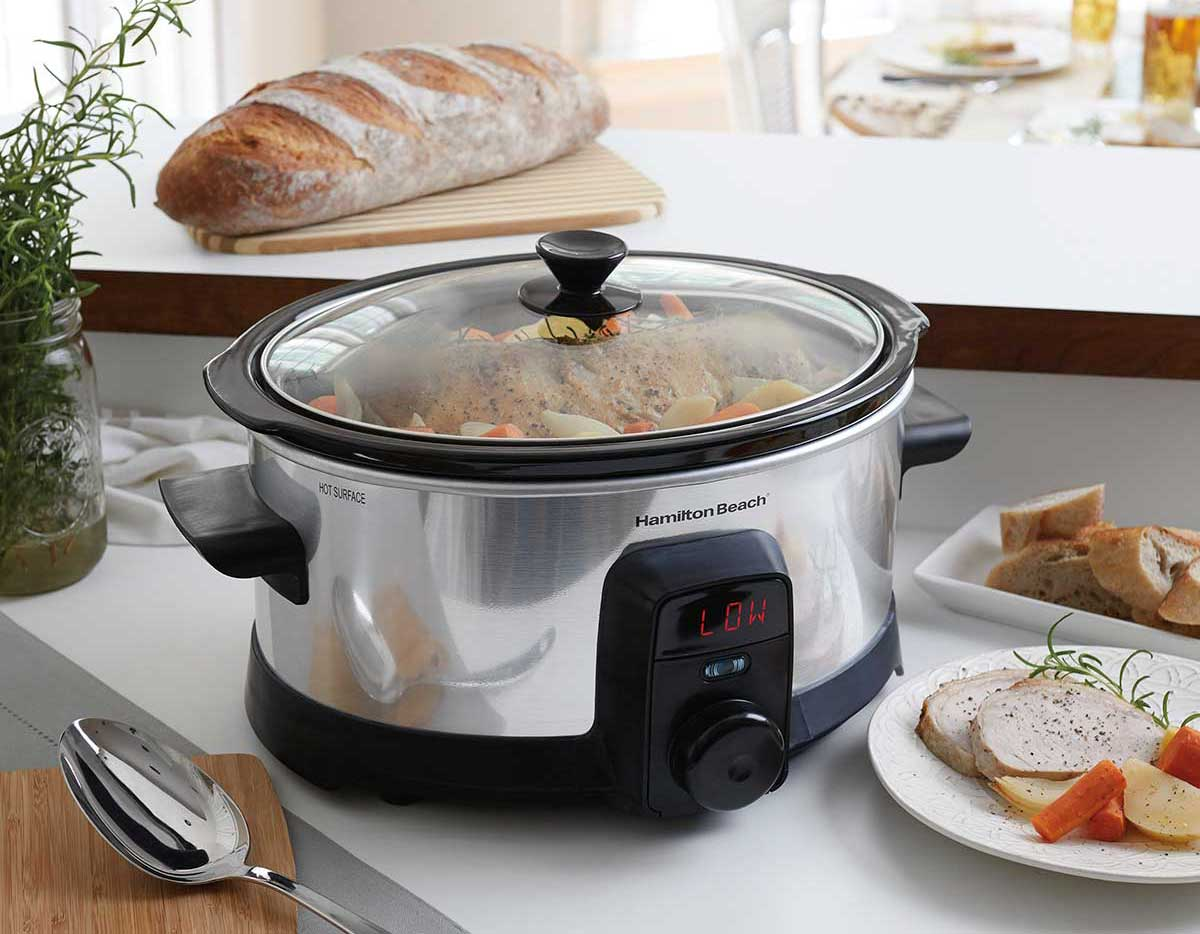 intellitime slow cooker on a counter