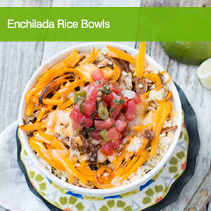 Enchilada Rice Bowls with Oh Sweet Basil