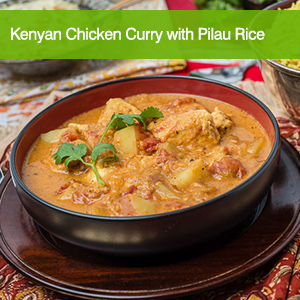 Kenyan Chicken Curry with Pilau Rice