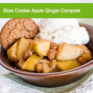 Slow Cooker Apple Ginger Compote