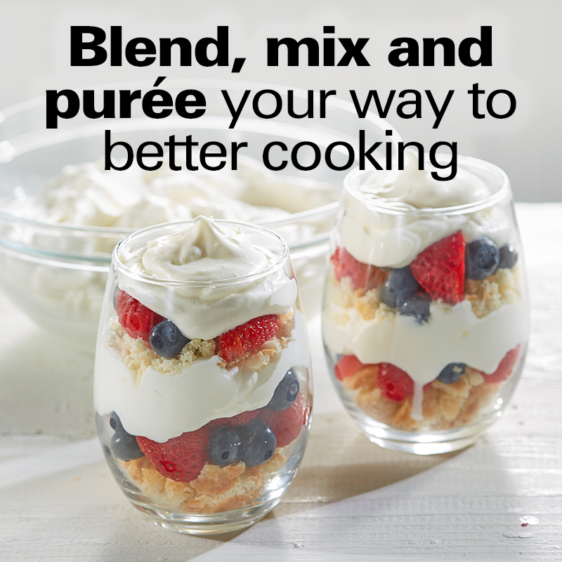 Blend, mix and purée your way to better cooking.