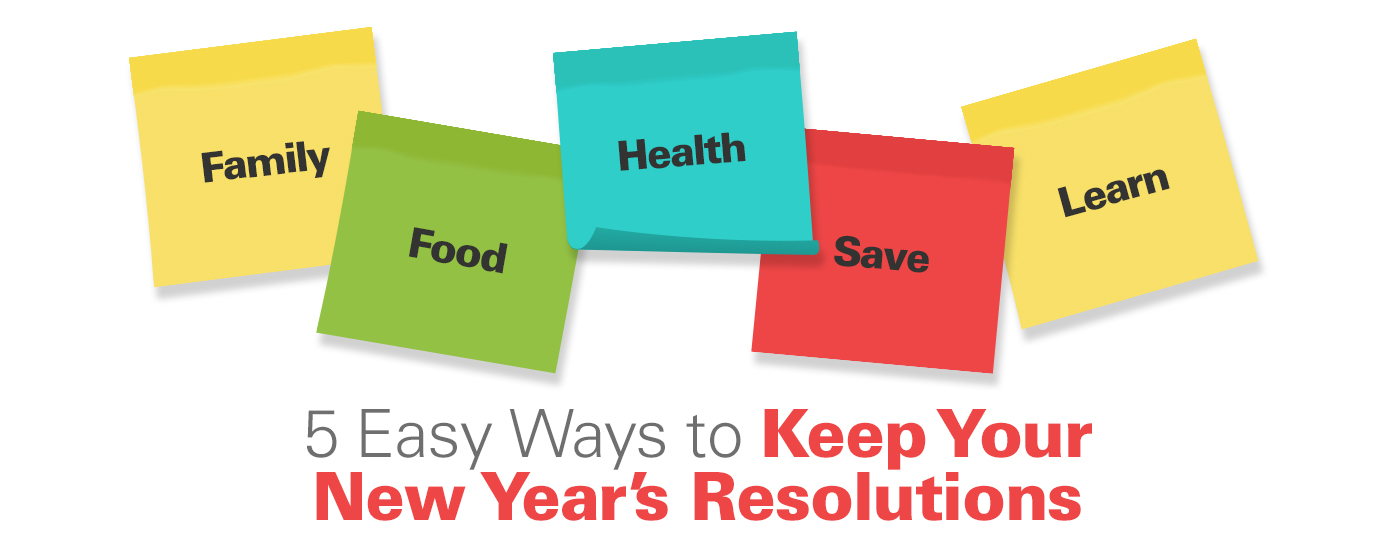 5 Easy Ways to Keep Your New Year's Resolutions