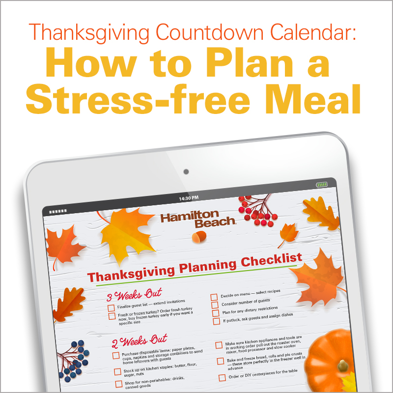 Thanksgiving Countdown Calendar: How to Plan a Stress-free Meal