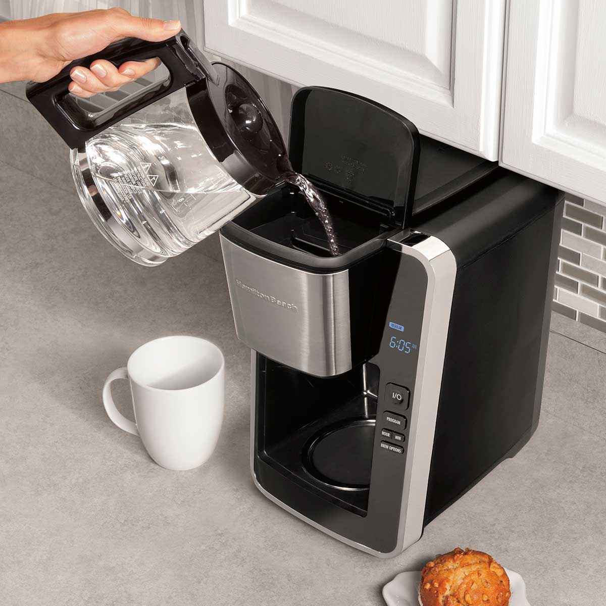 Enter for a Chance to Win a Hamilton Beach® Programmable Easy Access Deluxe Coffee Maker