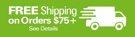 Free Shippping on Orders Over $75