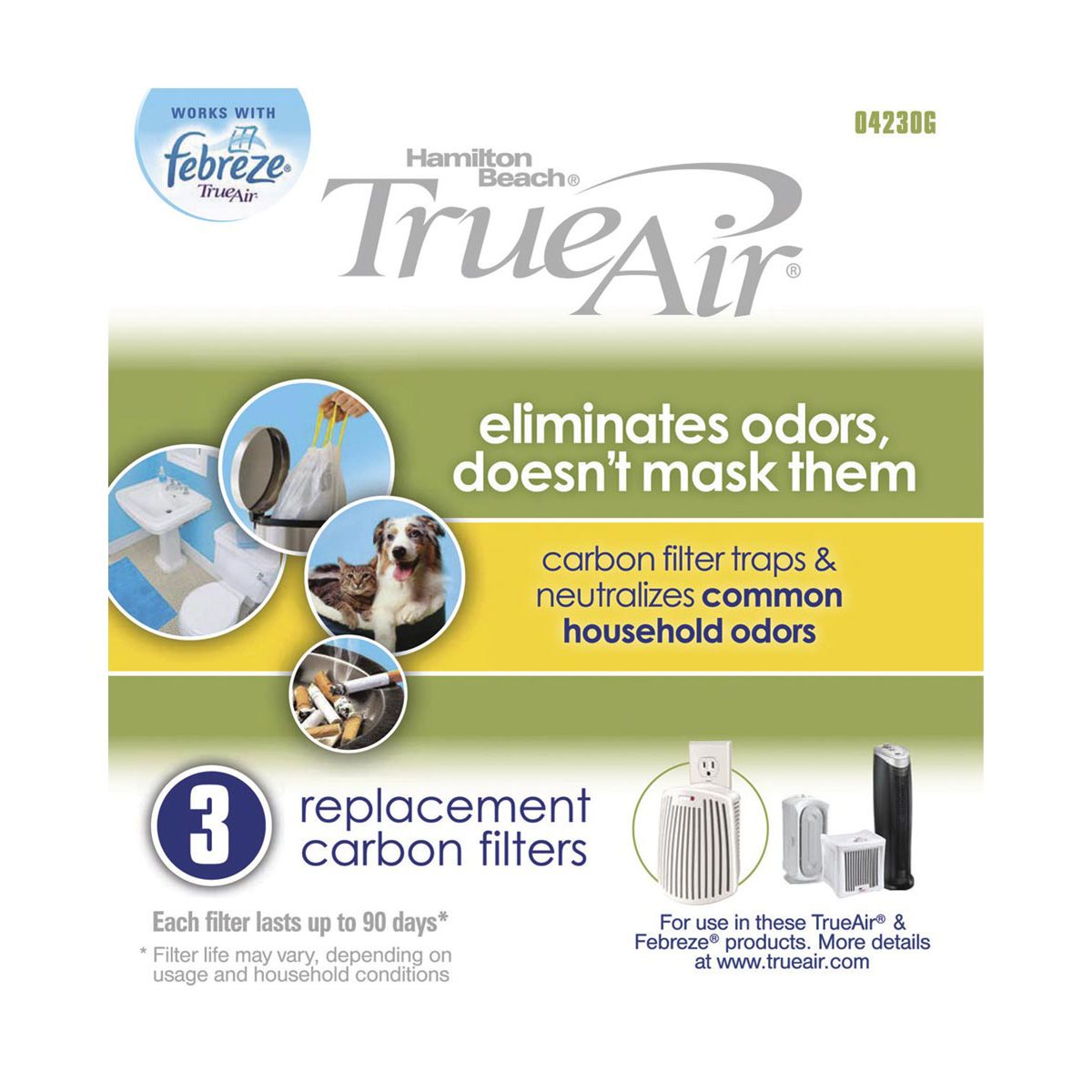 True Air® Replacement Carbon Filter 3 Pack (04230G)