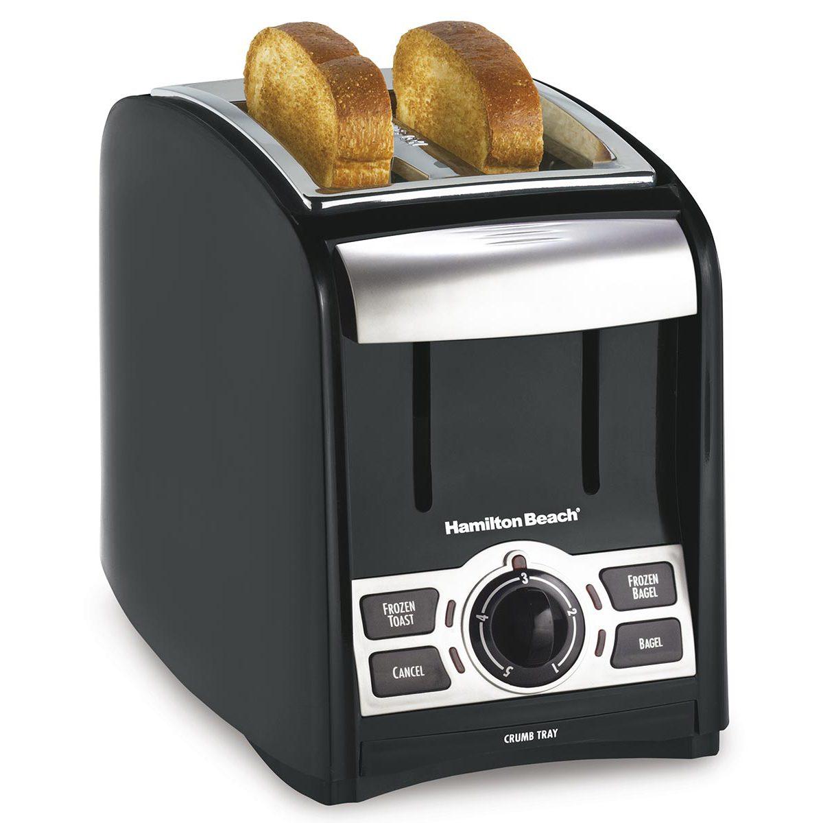 PerfectToast 2 Slice Toaster - Black & Silver (22124)