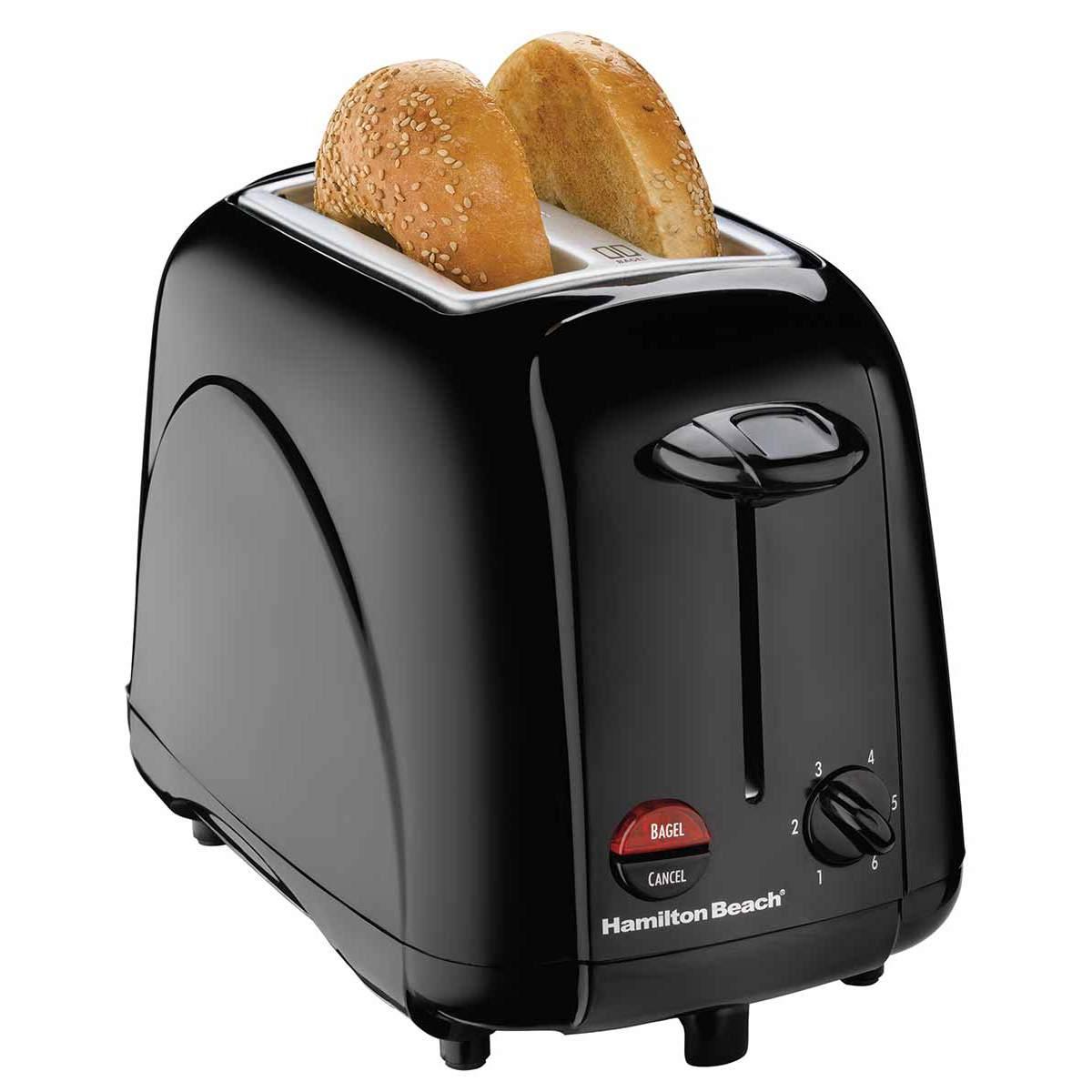2 Slice Bagel Toaster - Black (22201)