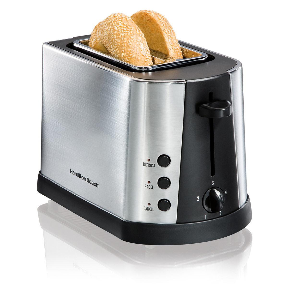 Brushed Chrome 2 Slice Toaster (22690)