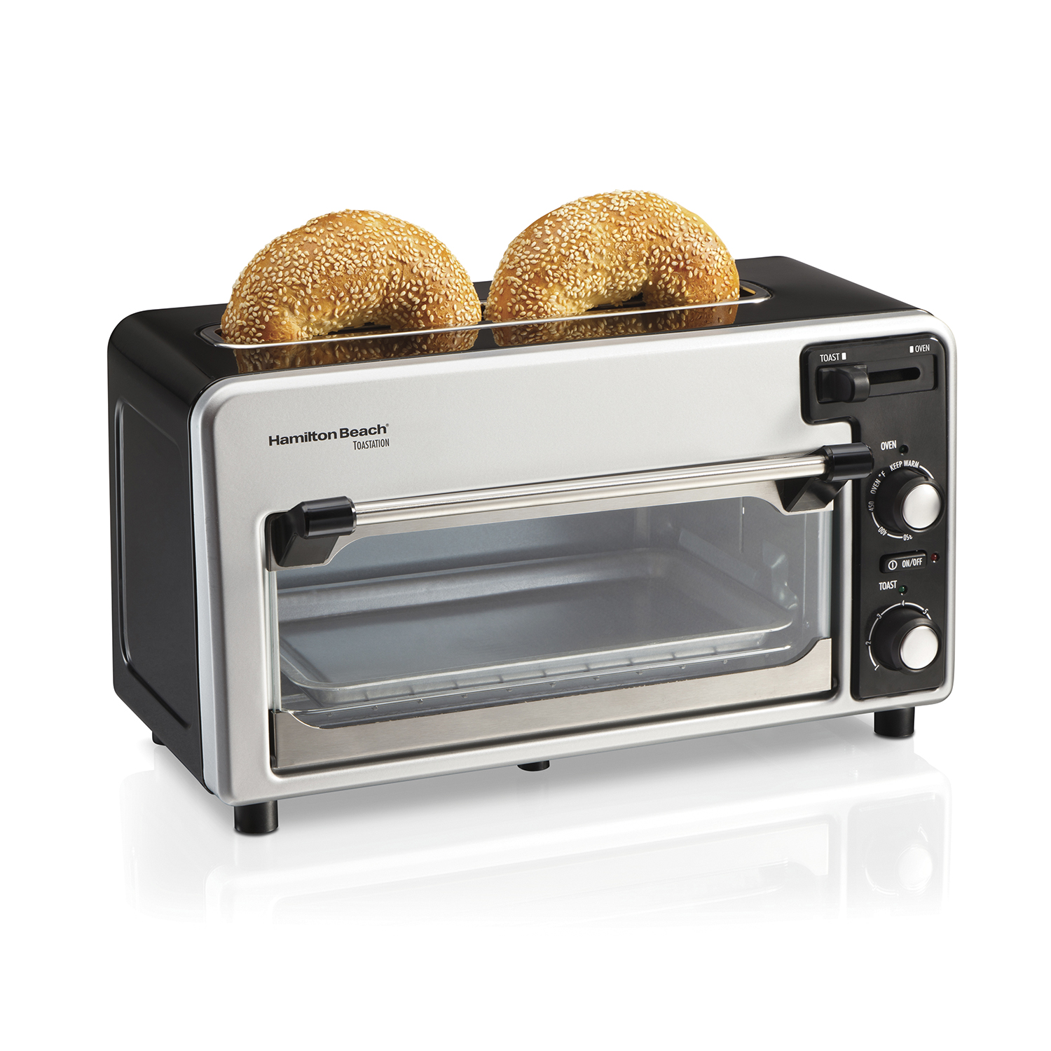 Toastation 2 Slice Toaster and Countertop Toaster Oven (Black) (22723)