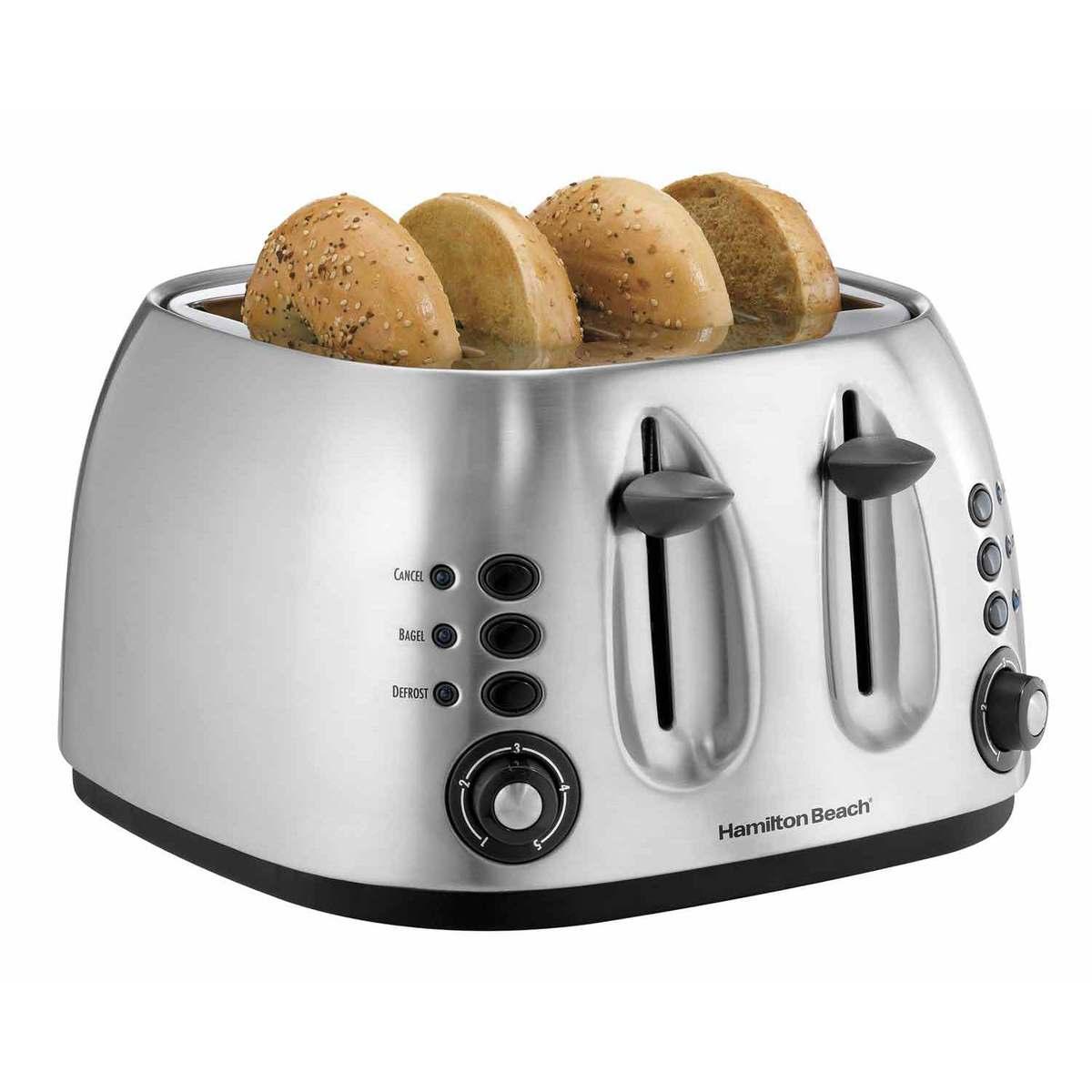 Metal 4 Slice Toaster/Bagel Toaster (24504)
