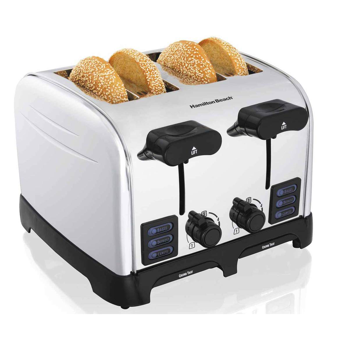 PerfectToast Chrome 4 Slice Toaster (24601)