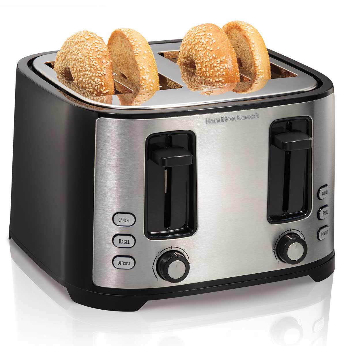 Roasters Toasters: Hamilton Beach Extra-Wide Slot 4-Slice Toaster