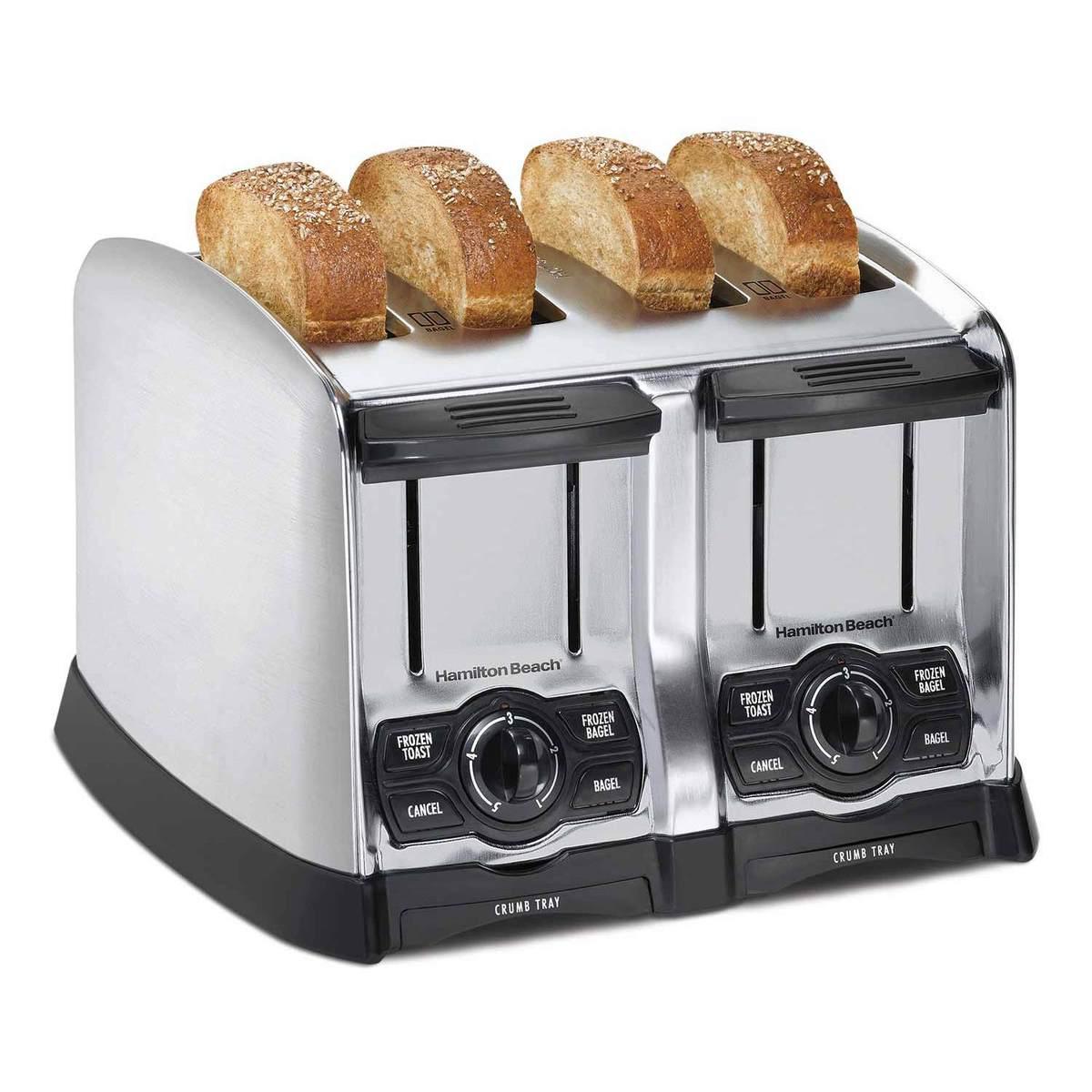 PerfectToast Chrome 4 Slice Toaster (24800)