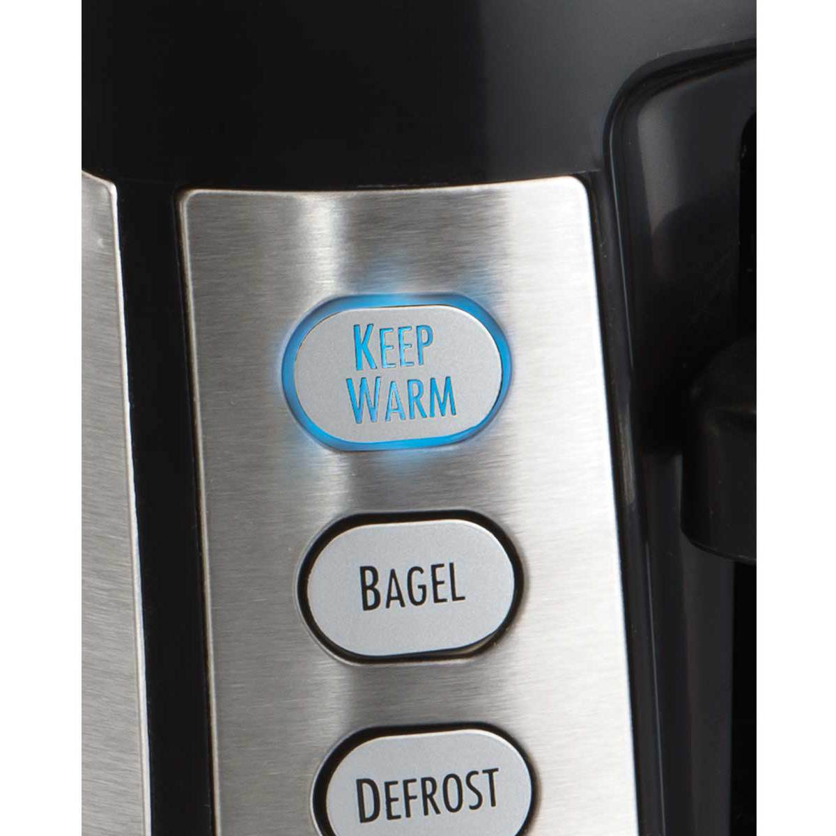 Keep Warm 4 Slice Long Slot Toaster (24810)