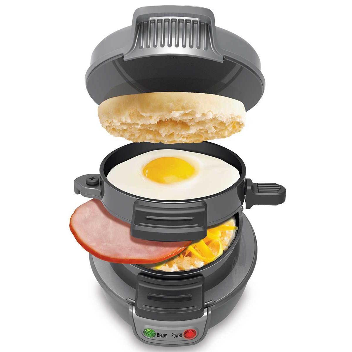 breakfast sandwich maker in gray