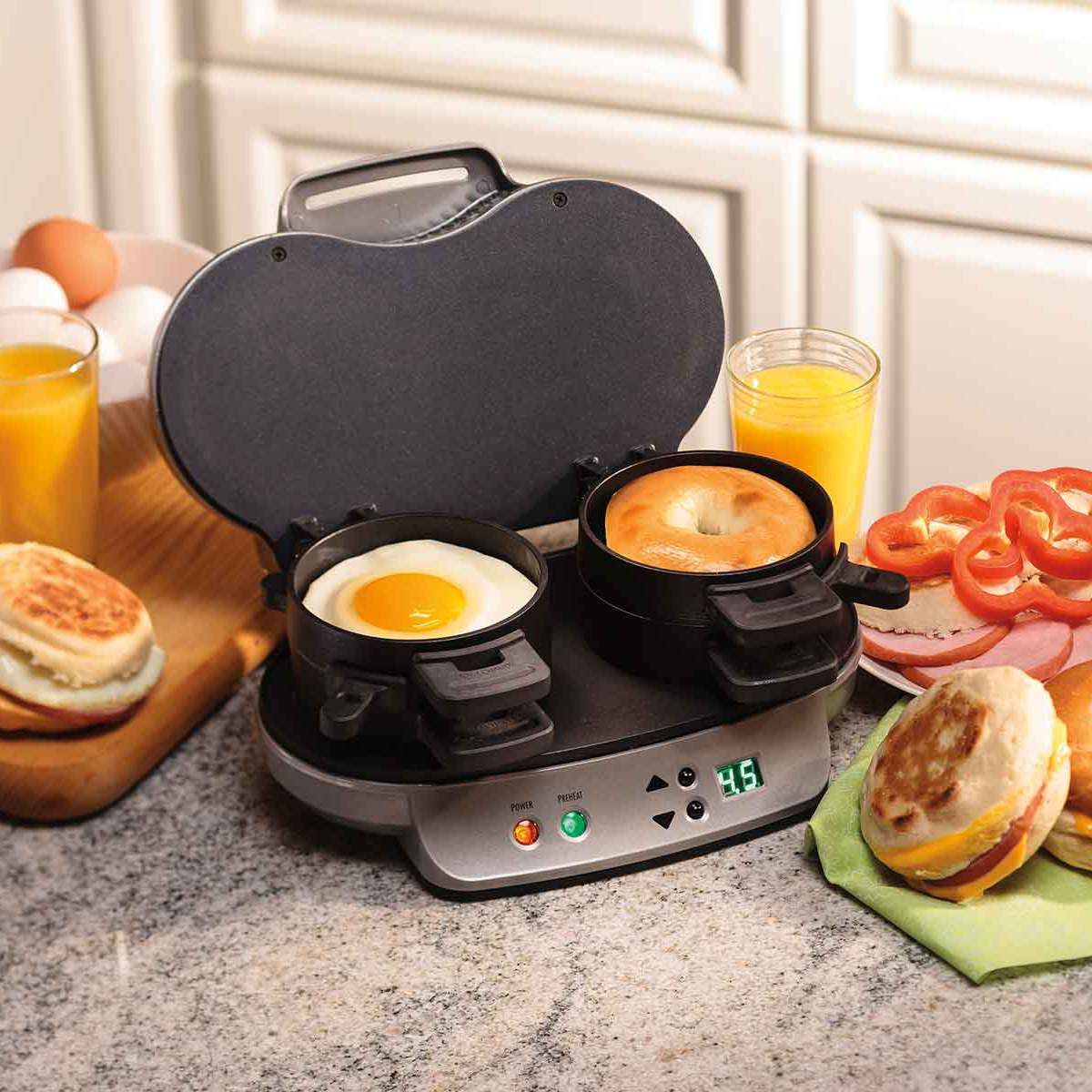 Dual Breakfast Sandwich Maker (25490)