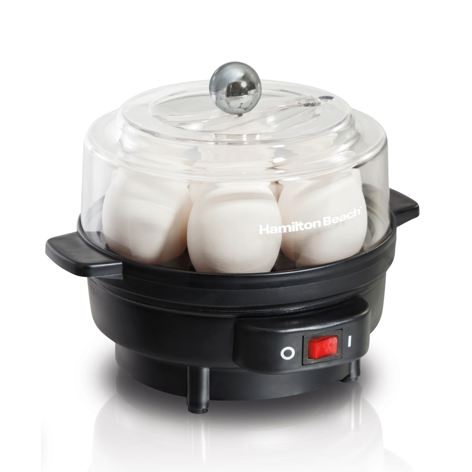 Hamilton Beach Egg Cooker with Built-In Timer, Poaching Tray (25500)