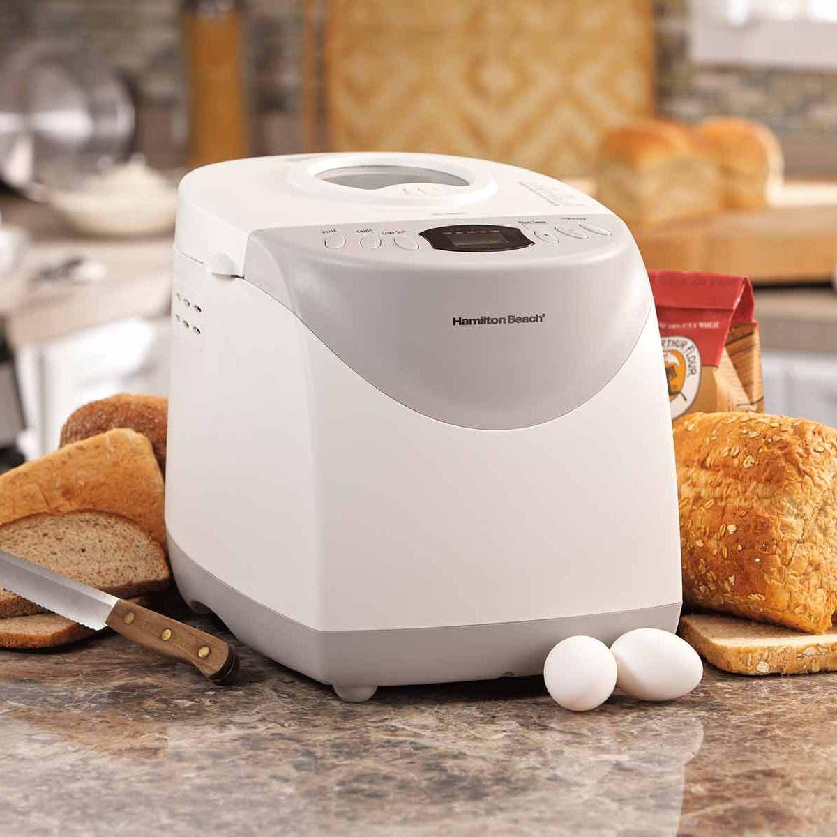 Hamilton Beach 2-lb Bread Machine Maker White