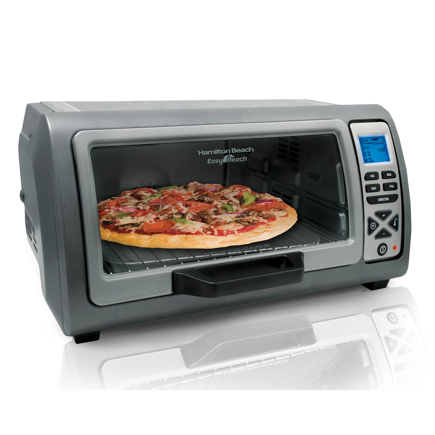 6 Slice Easy Reach™ Digital Toaster Oven with Roll-Top Door  (31128)