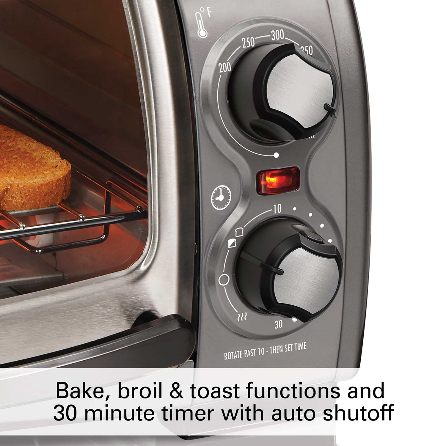 Easy Reach® Toaster Oven with Roll-Top Door (Gray) (31334D)