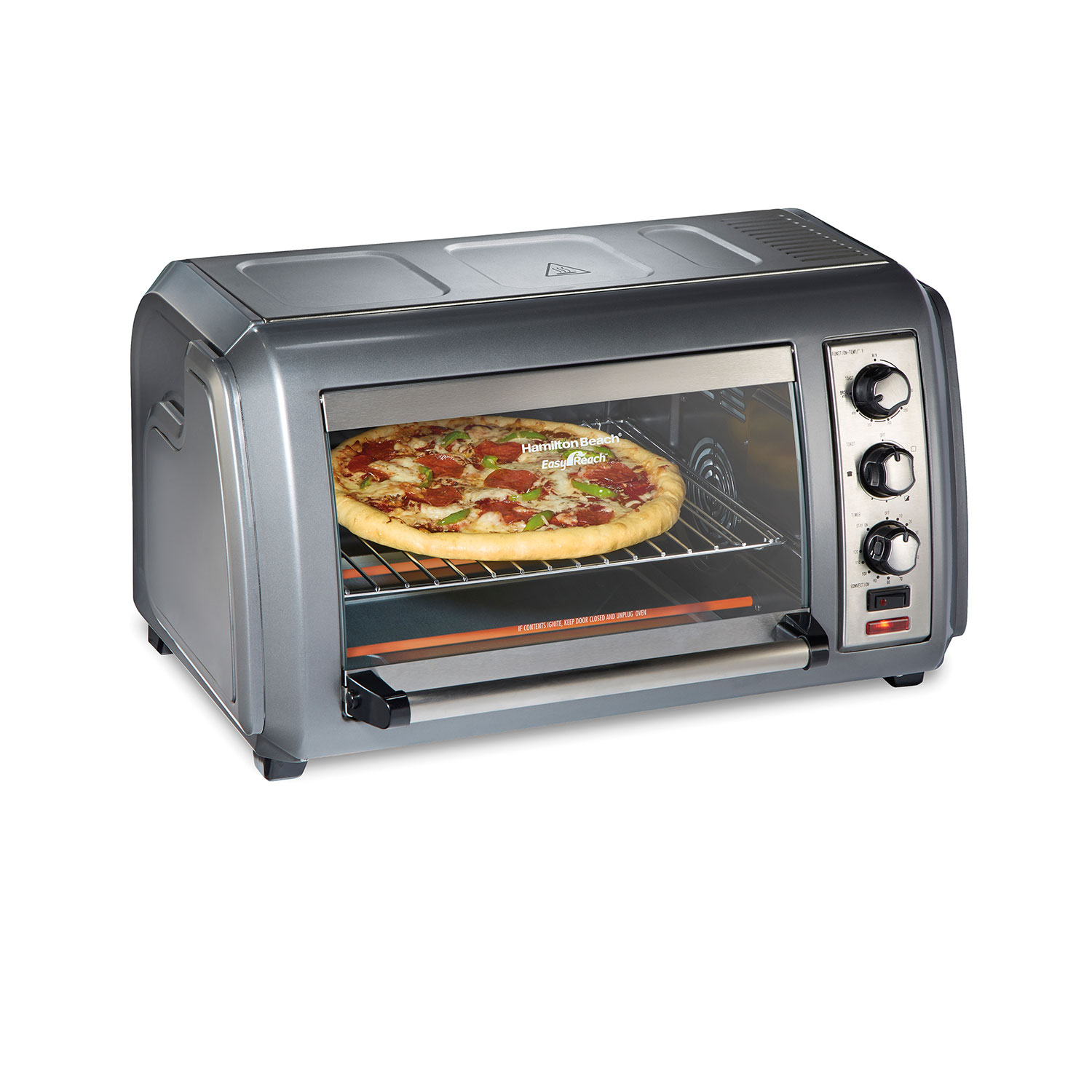 6 Slice Easy Reach® Toaster Oven with Roll-Top Door (31434)