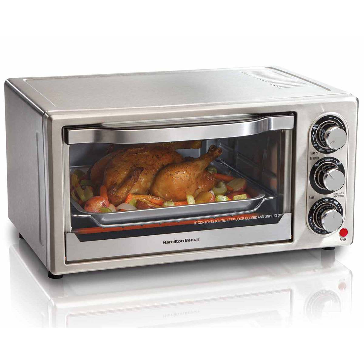 toaster black and of slice com x countertop photo decker natural pizza walmart oven convection