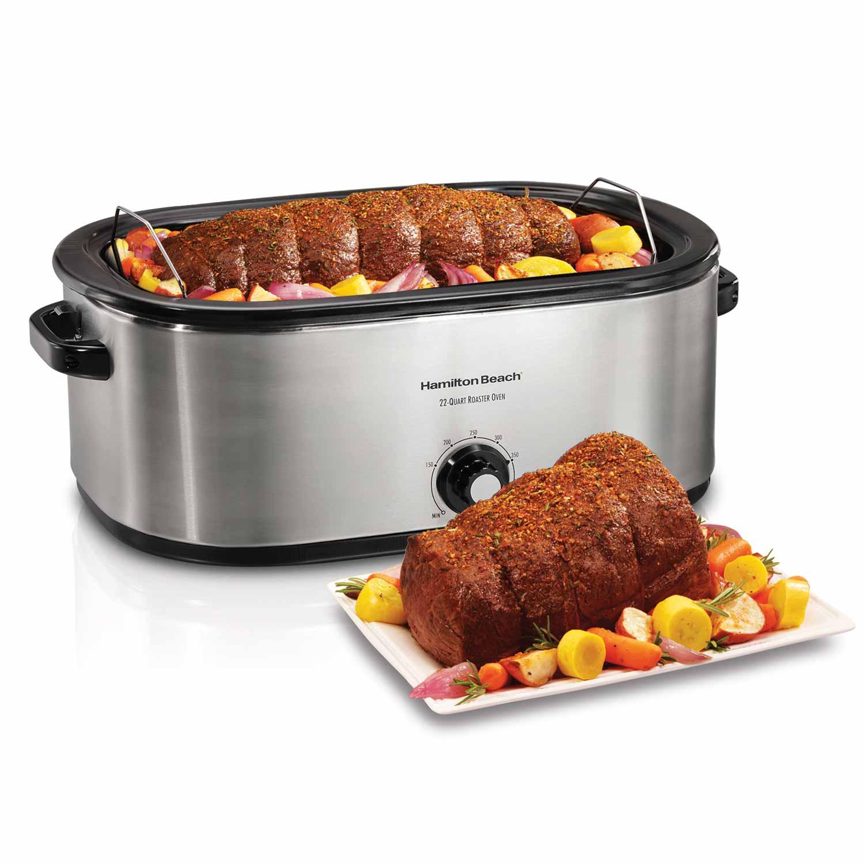 Hamilton Beach Roaster Oven 22 Quart Stainless Steel 32229r