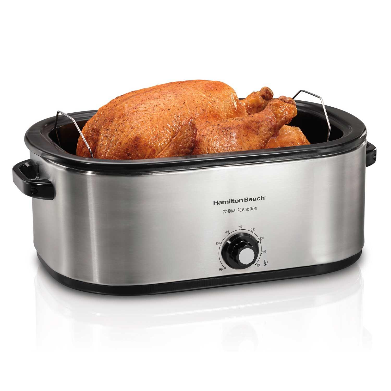 28 Lb Turkey Roaster Oven, Stainless Steel (32229R)