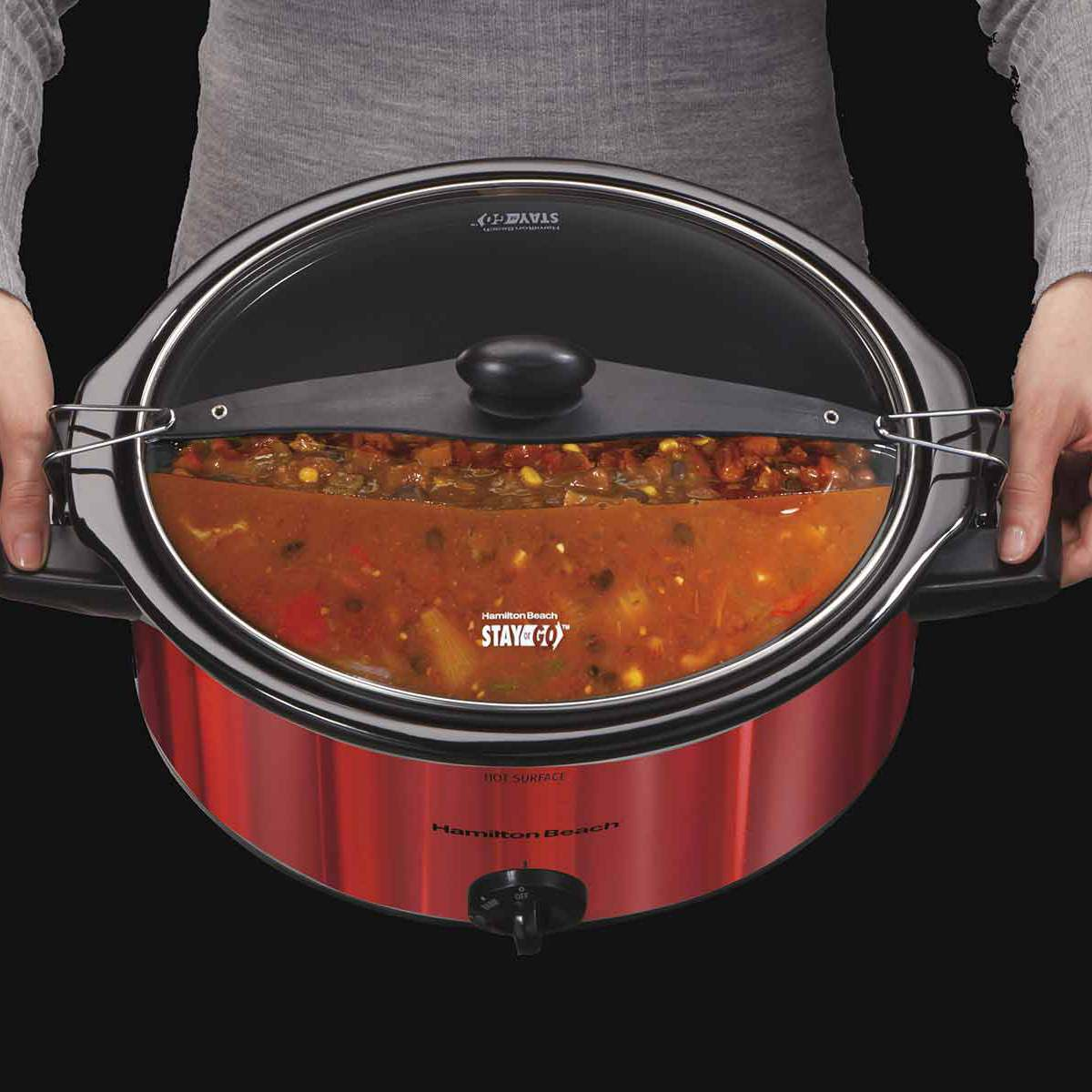 Stay or Go® 5 Quart Shimmer Finish Slow Cooker (33451)