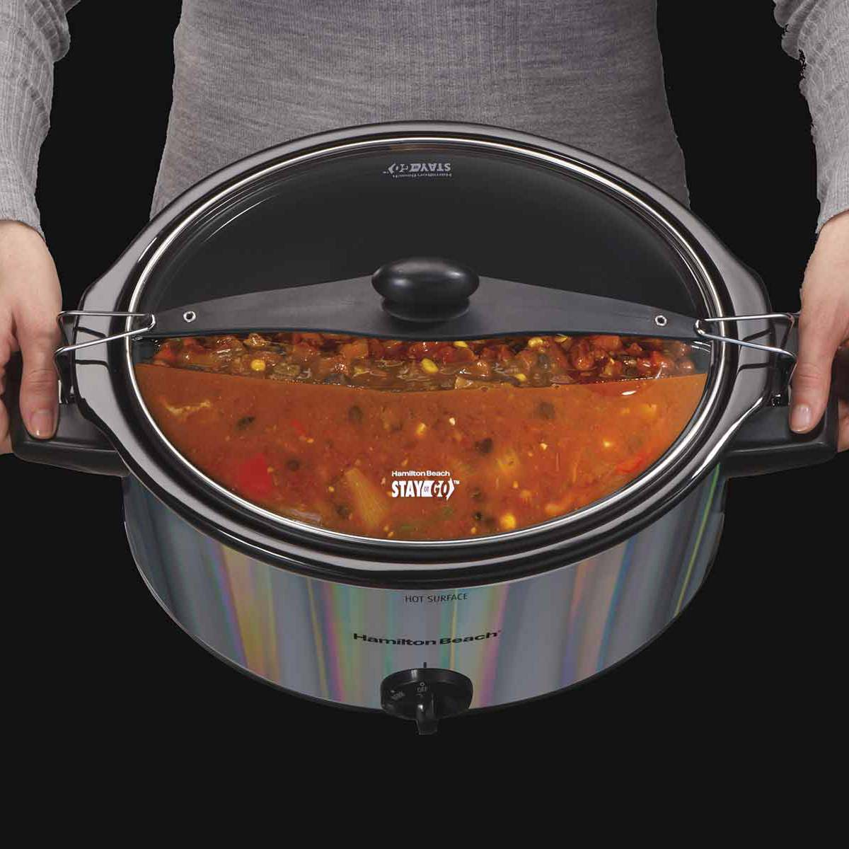 Stay or Go® 5 Quart Shimmer Finish Slow Cooker (33452)