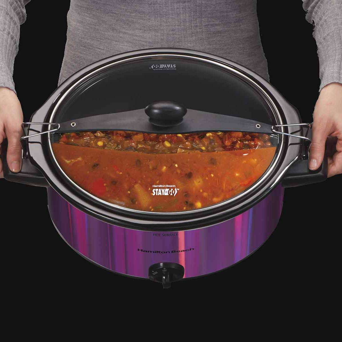 Stay or Go® 5 Quart Shimmer Finish Slow Cooker (33454)
