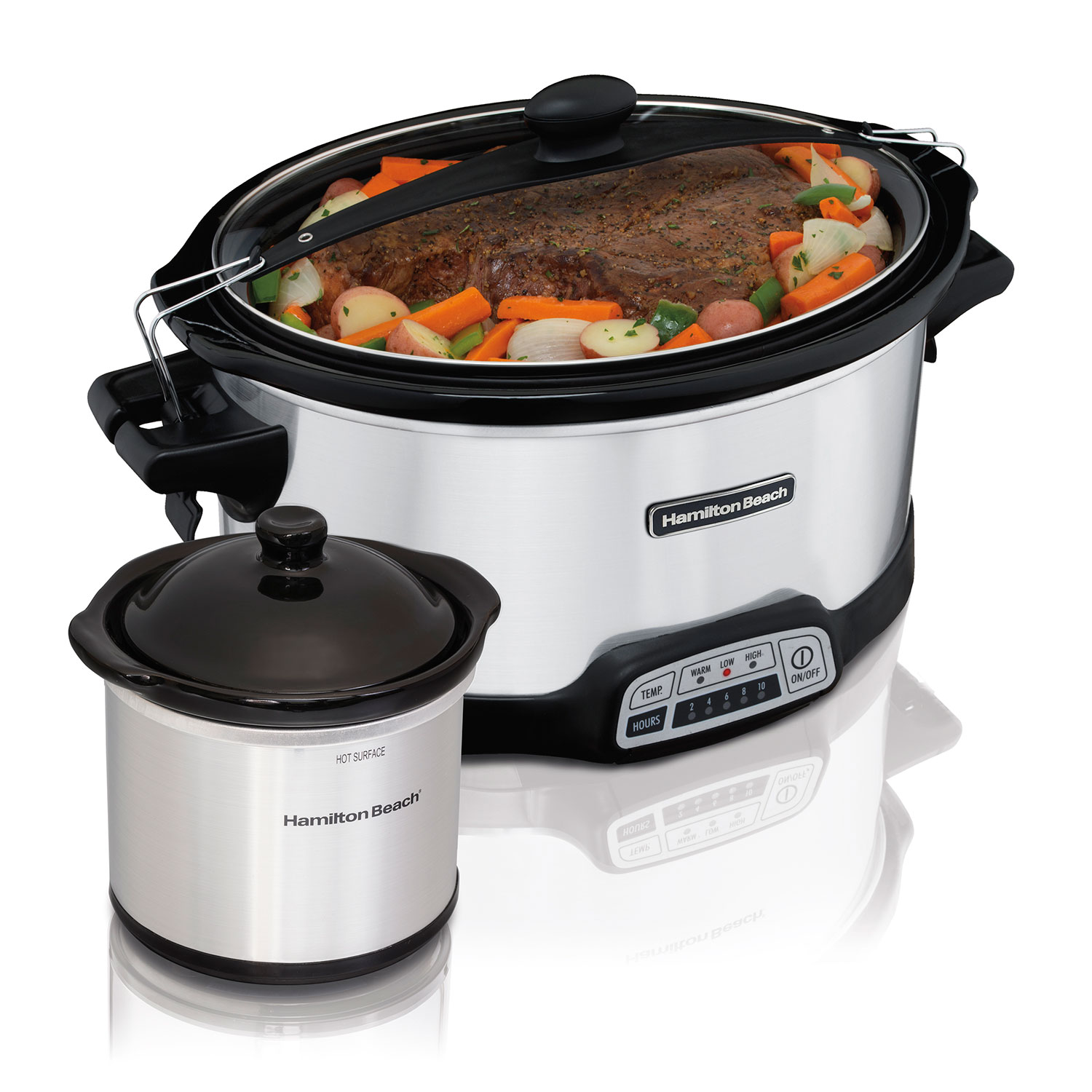 Stay or Go® Programmable 7 Qt. Slow Cooker with Party Dipper (33477)
